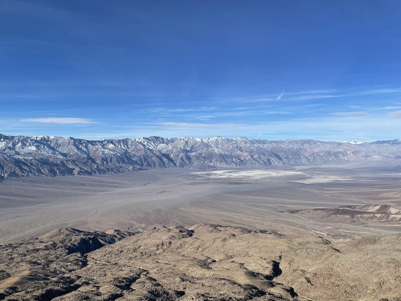 The Saline Valley and the Nelson Range to the west.