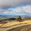 Far reaching views towards Pleasanton, Livermore, and Mount Diablo.