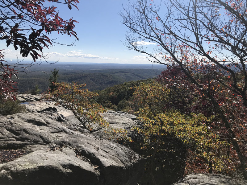 Autumn view of Grassy Cove from Southern Overlook.