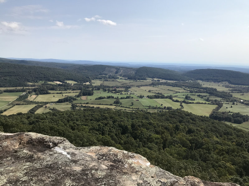 View of Grassy Cove from Brady Bluff Overlook.