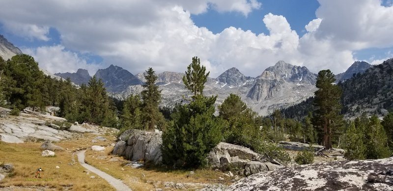 July 2018 JMT thru Hike. South bound. Almost to Rae Lakes.