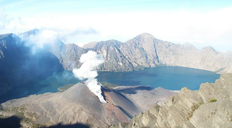 The view from Gunung Rinjani