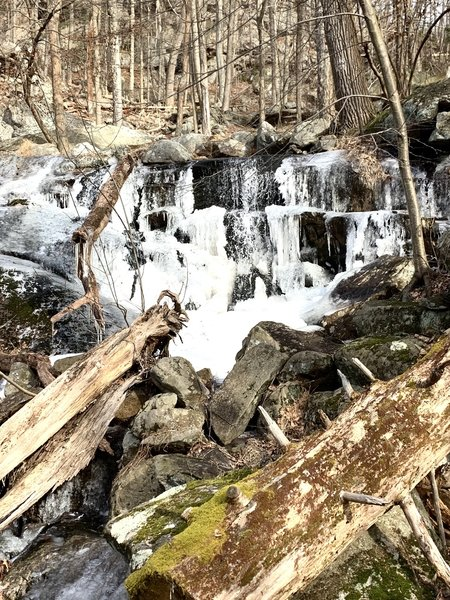 Gorgeous waterfall on the back nine of this hike.