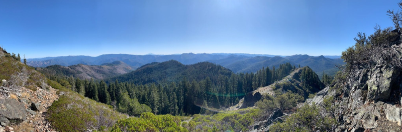 View of the Red Buttes Wilderness to the south.