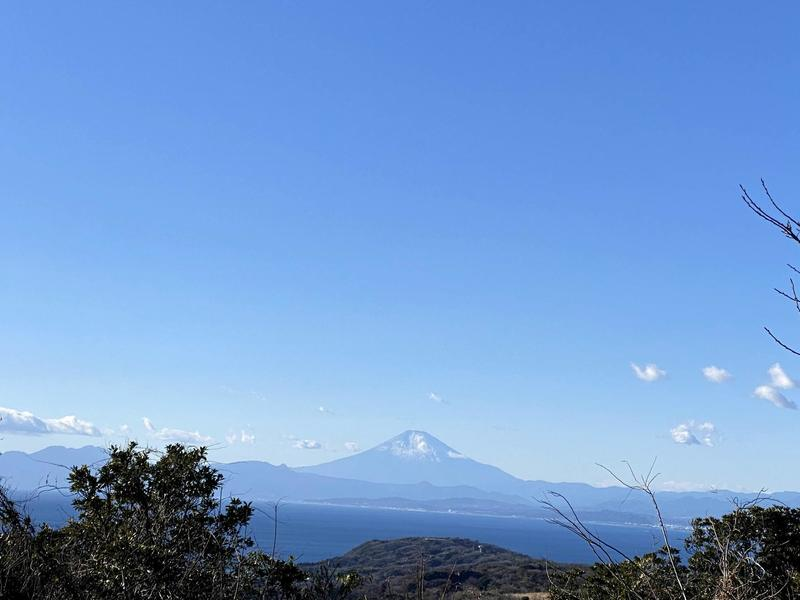 View of Mt. Fuji from the top of Mt. Ogusu
