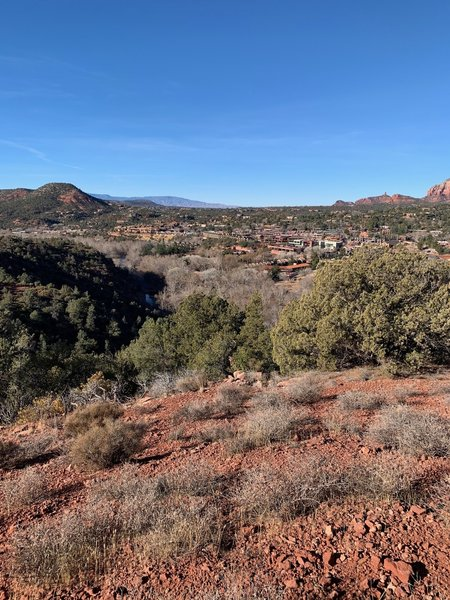 Uptown Sedona from Huckaby Trail