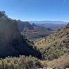 The view back down Casner Canyon.