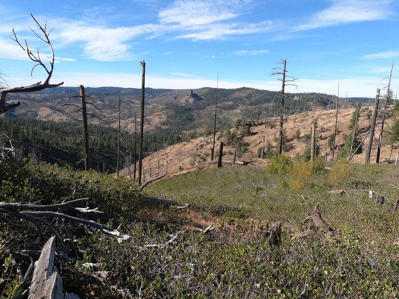 Mill Creek Wilderness and Twin Pillars from Wildcat trail (approx. 4 mi past Belknap trail intersection).