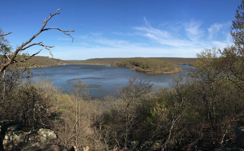 View from Lake Bixhoma Scenic Overlook.