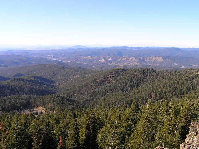 View west from Lookout Mountain summit.