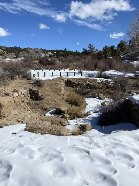 Ruins of an old house at the north end of the trail