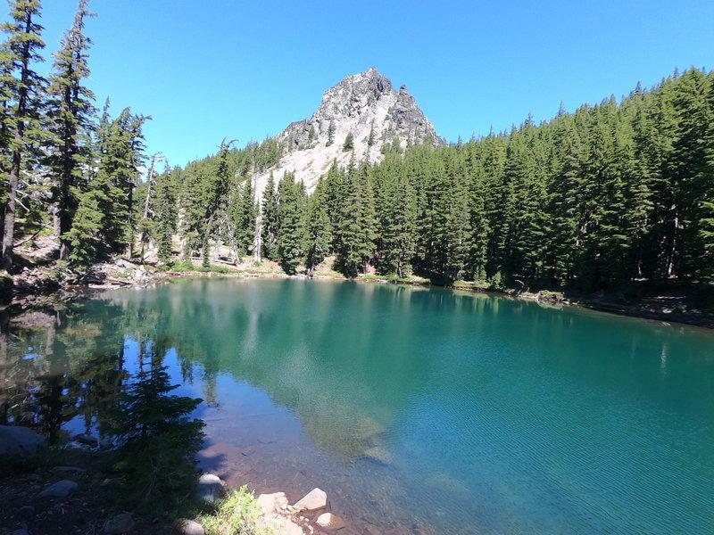 Divide Lake at foot of Mt. Yoran