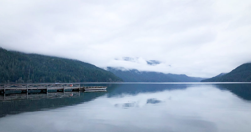 Low clouds over Lake Crescent