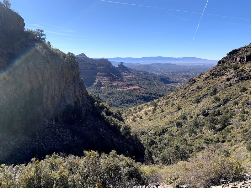 Looking back down Casner Canyon Trail.