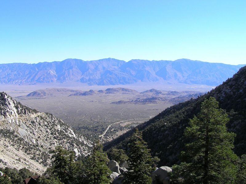 View of White Mountains from Meysan Lakes Trail.