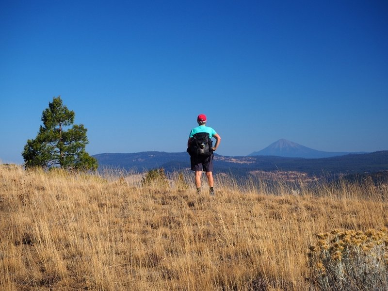 Mount McLoughlin from Porcupine Mountain.