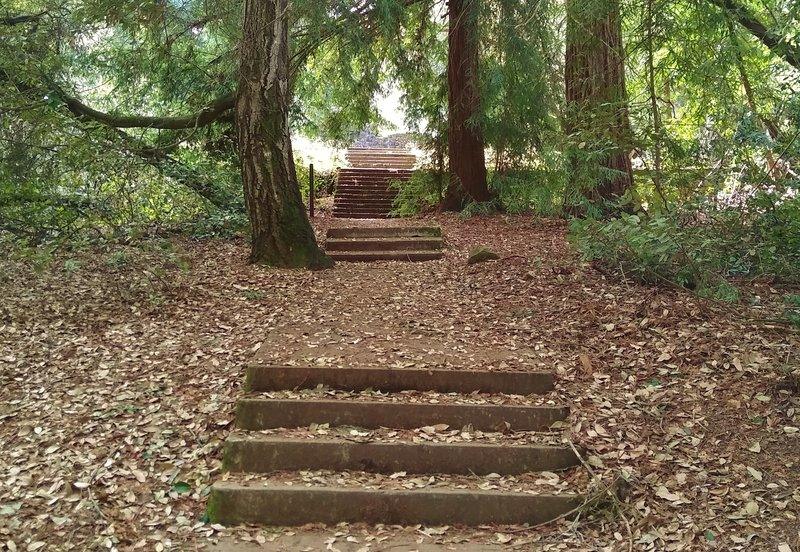 Historic stairs up to the vacation home of Henry Miller, a land and cattle baron in the mid to late 1800s.