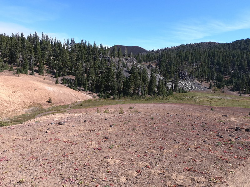 Approaching Scott Meadow (Yapoah Crater in background).