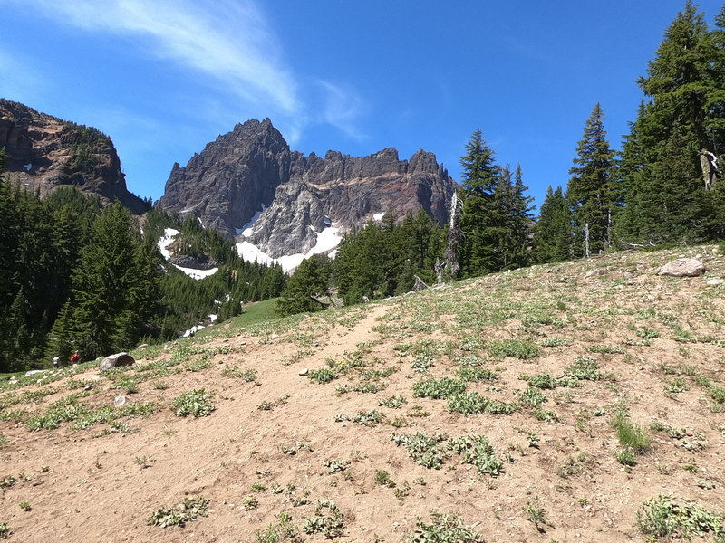 3-Fingered Jack from approach trail (07-14-2020)