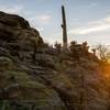 Sunset light from the rocks below Tanque Verde.