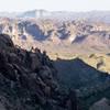 Looking down Peralta Canyon