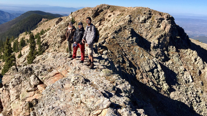 On the ridge between Deception Peak and Lake Peak.