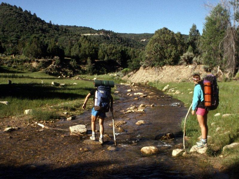 Starting down stream from near Chamberlain's Ranch.