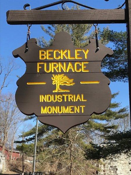 Beckley Furnace shield sign