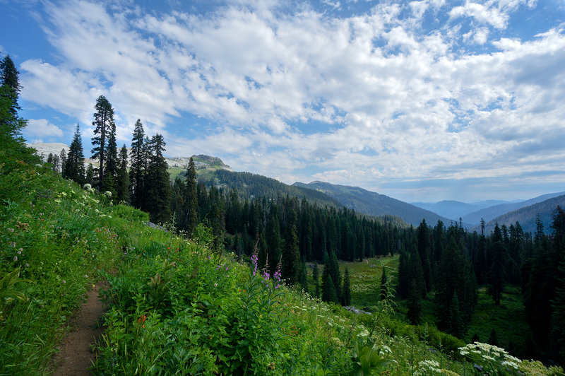 Marble mountain from PCT, early summer.