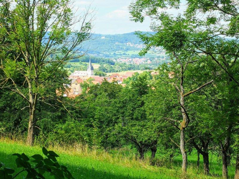 Leutenbach view from the trail