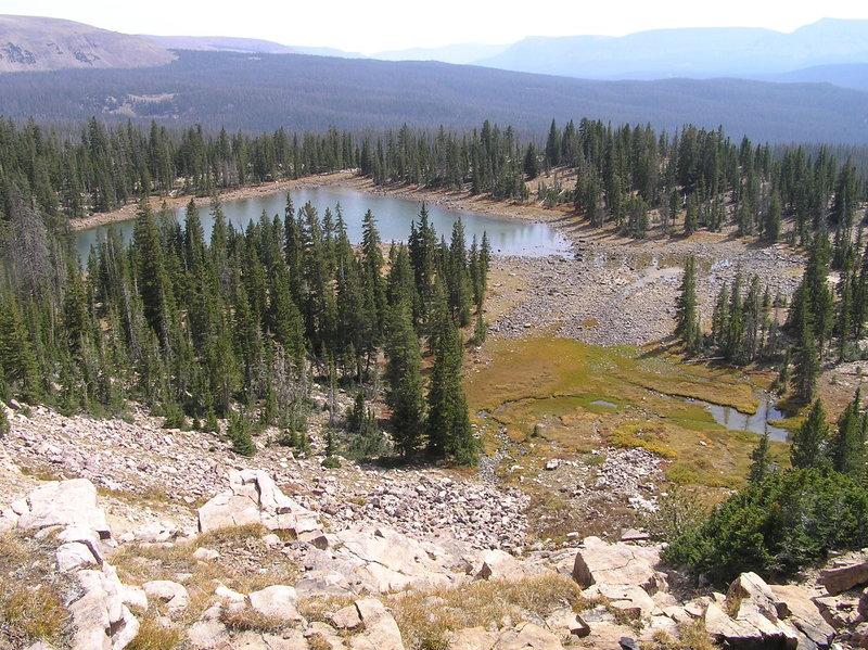 Morat Lake (eastern one) from Blue Lake Trail (09-19-2012)