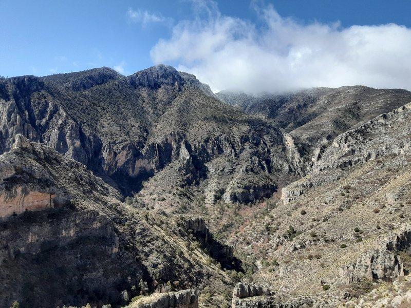 Looking across to Guadalupe Peak.