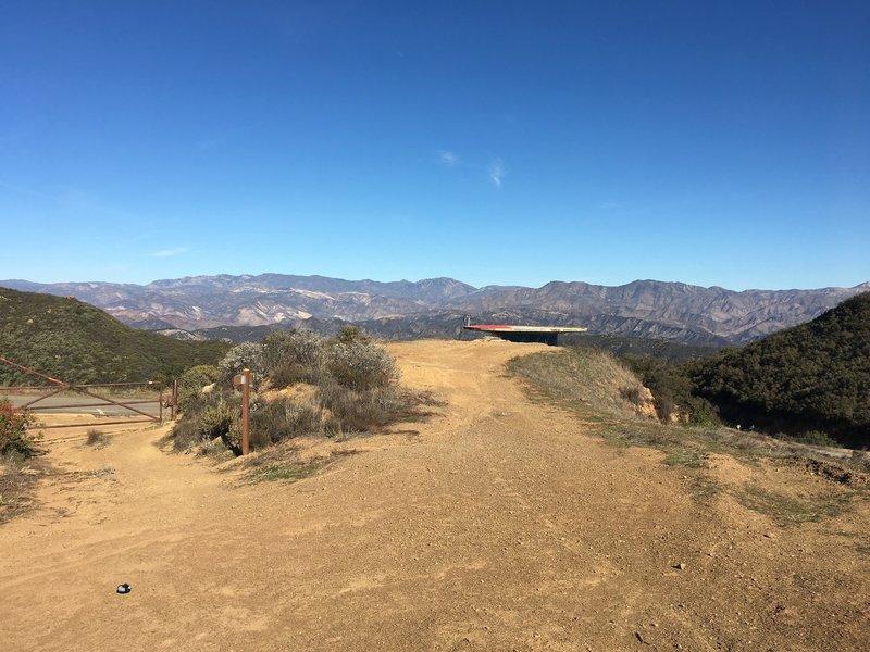 Romero Saddle vista.