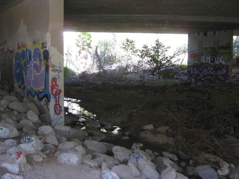 Creek under the freeway.