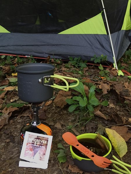 Adventure Hiking Trail, Indiana. Morning cup of joe.