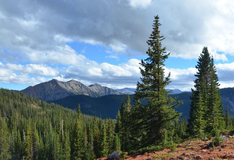 Ten Mile Range from Meadow Creek Trail.