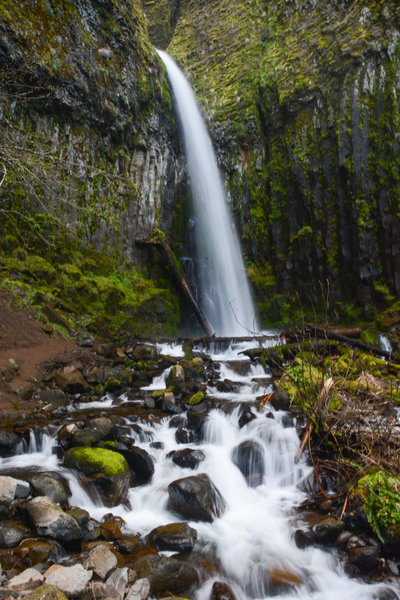 Dry Creek Falls in early spring time.
