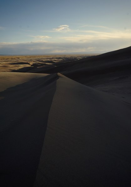 A sharp ridge, about a quarter of the way up to High Dune.