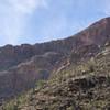 Cliffs rising over Bear Canyon