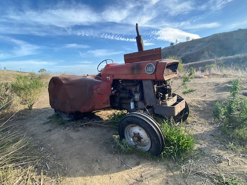 Old tractor on the Harmon Canyon trail