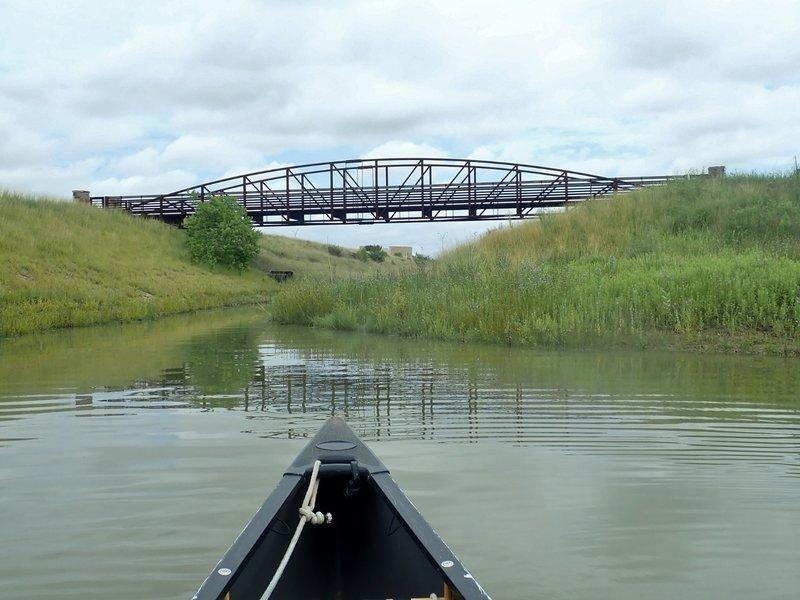 The foot bridge between the east and west loops.
