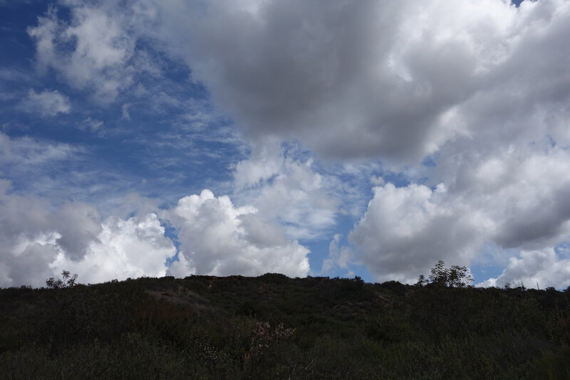 Dramatic clouds along the Shaw Valley Trail.