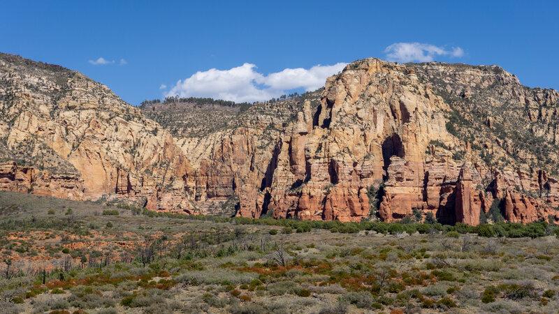 Cliffs over Brins Mesa