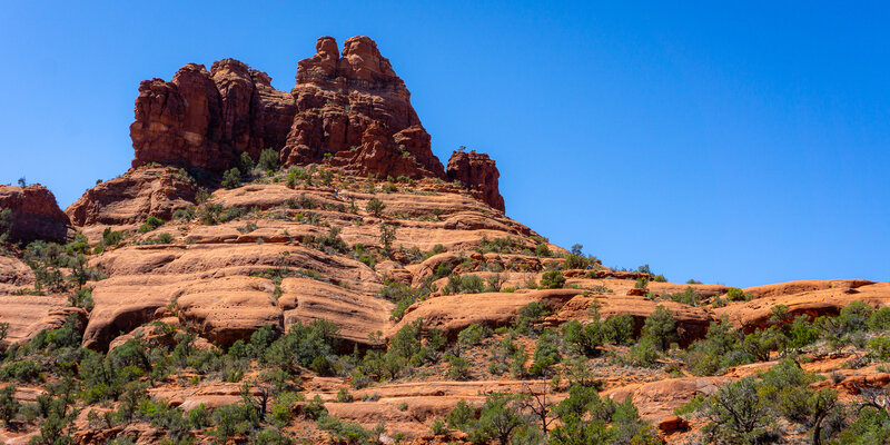 Bell Rock from the canyon to the east.