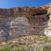 Montezuma Castle nestled in the white cliffs.