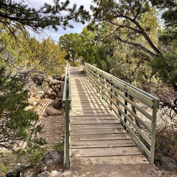 Foot bridge over Canada del Buey