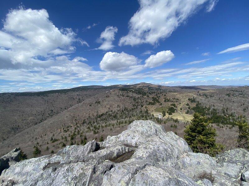 View at the top of Big Pinnacle.