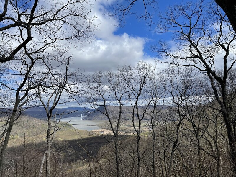 View of Bear Mountain Bridge from Cornell Mine Trail