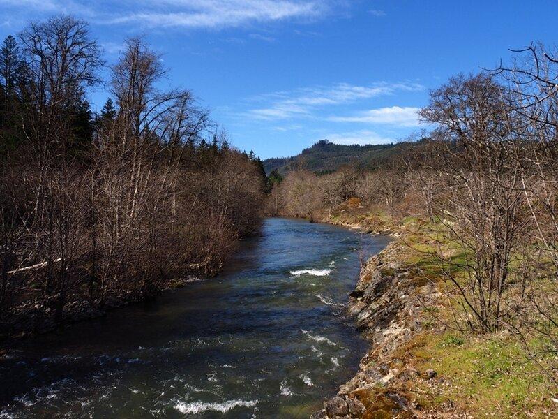 Elk Creek just downstream of the swimming spot.