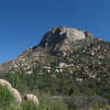 Looking up toward Granite Mountain from northwest.
